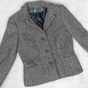 Lauren Ralph Lauren Grey Wool Blazer